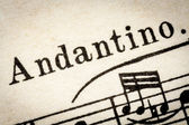 Andantino - slow music tempo — Stock Photo
