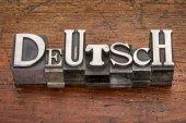 Deutsch word in metal type — Stock Photo