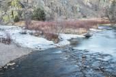 Poudre River in winter — Stock Photo
