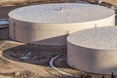 Round water tanks — Stock Photo