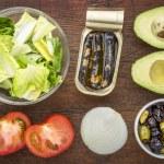 Sardine salad ingredients — Stock Photo #63854421