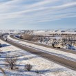 Colorado freeway ain winter — Stock Photo #64103943