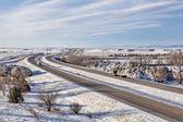 Colorado freeway ain winter — Stock Photo