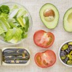 Sardine salad ingredients — Stock Photo #64247479