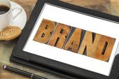 Brand word in wood type — Stock Photo