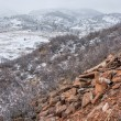 Snowstorm over Colorado foothills — Stock Photo #65997873