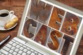 Webcast word  on laptop screen — Stock Photo