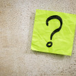 Question mark on sticky note — Stock Photo #66339677