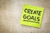 Create goals reminder — Stock Photo