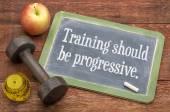 Training should be progressive — Stock Photo
