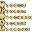 Define, Review, Identify, Verify, Execute - DRIVE — Stock Photo #67181517