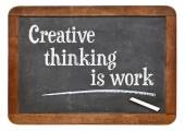 Creative thinking is work — Stock Photo