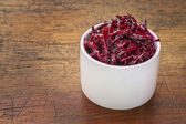 Pickled beets, dulse and kale salad — Stock Photo