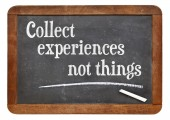 Collect experiences not things — Stock Photo