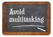 Avoid multitasking advice — Stock Photo