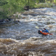 Whitewater kayaker on Poudre River — Stock Photo #67885691