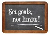 Set goals, no limits — Stock Photo