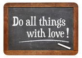 Fare tutte le cose con amore — Foto Stock