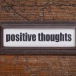 Positive thoughts - file cabinet label — Stock Photo #69494929