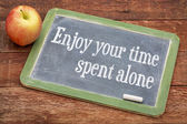 Enjoy your time spent alone — Stock Photo