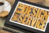 Web design service typography — Stock Photo