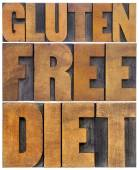 Gluten free diet word abstract — Fotografia Stock