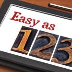 Easy as 1, 2, 3 concept — Stok fotoğraf #69760123