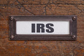 IRS - file cabinet label — Stock Photo