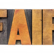 Fair word typography — Stock Photo #70312941