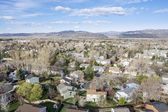 Aerial view of Fort Collins, Colorado — Stock Photo