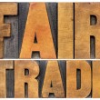 Fair trade typography — Stock Photo #70491889