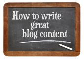 How to write great blog content — Stock Photo
