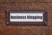 Business blogging label — Stock Photo