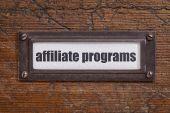 Affiliate programs label — Stock Photo