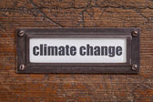 Climate change  label — Stock Photo
