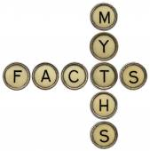 Facts and myths crossword — Stock Photo