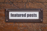 Featured posts  label — Stock Photo
