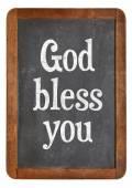 God bless you on blackboard — Stock Photo