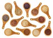 Gluten free grains and seeds  abstract — Stock Photo