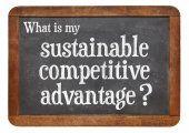 Sustainable competitive advantage concept — Stock Photo