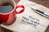 How to make money blogging — Stock Photo