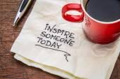 Inspire someone today — Stock Photo