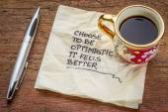 Choose to be optimistic on napkin — Stock Photo