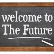 Welcome to the future on blackboard — Stock Photo #73863567