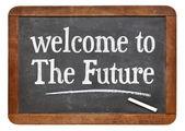 欢迎来到黑板上未来 — 图库照片