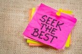 Seek the best reminder note — Stock Photo