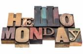Hallo maandag typografie abstract — Stockfoto