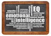 Emotional intelligence (EQ) word cloud — Stock Photo