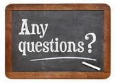 Любые вопросы на доске — Стоковое фото