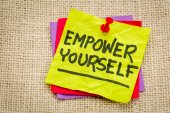 Empower yourself reminder note — Stock Photo
